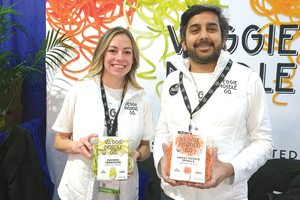 Jessica Kezar and Anish Sheth of Veggie Noodle Co